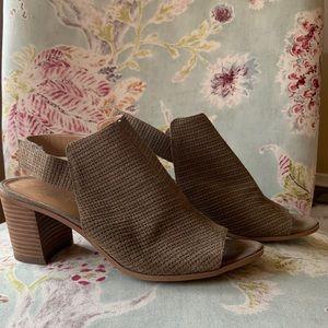 Franco Sarto peep toe bootie/sandal
